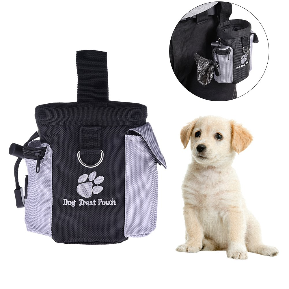 Pet Training Bag, Yunt Portable Food Storage Bag Hands-free Dog Training Snack Packs to Hold Pet Toys Treats Snacks Waste Bag for Dogs Cats