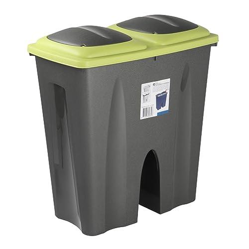 Duo Double Sided Recycling Bin (Green)