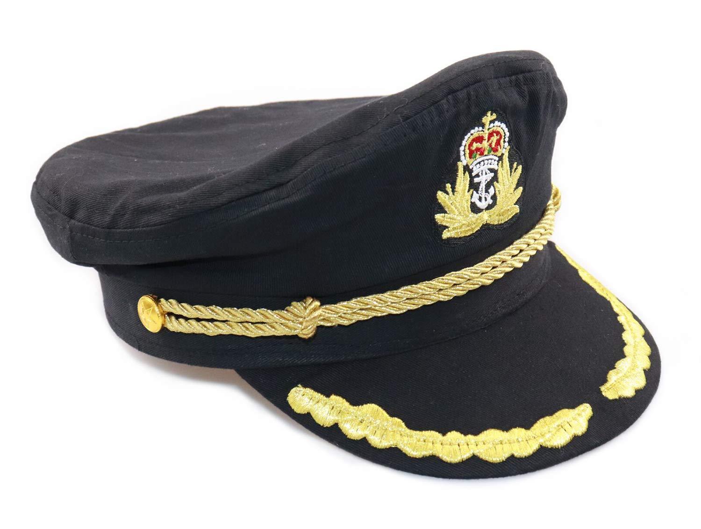 0d05d502492 Amazon.com  Ibeauti Unisex Adjustable Captain Costume Admiral Hat Cosplay  Black Sailor Cap ( Black )  Toys   Games