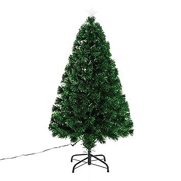 Kleid Tannenbaum.Homcom Weihnachtsbaum Künstlicher Christbaum Tannenbaum Baum Mit Ständer Metall Grün Höhe 120 Cm