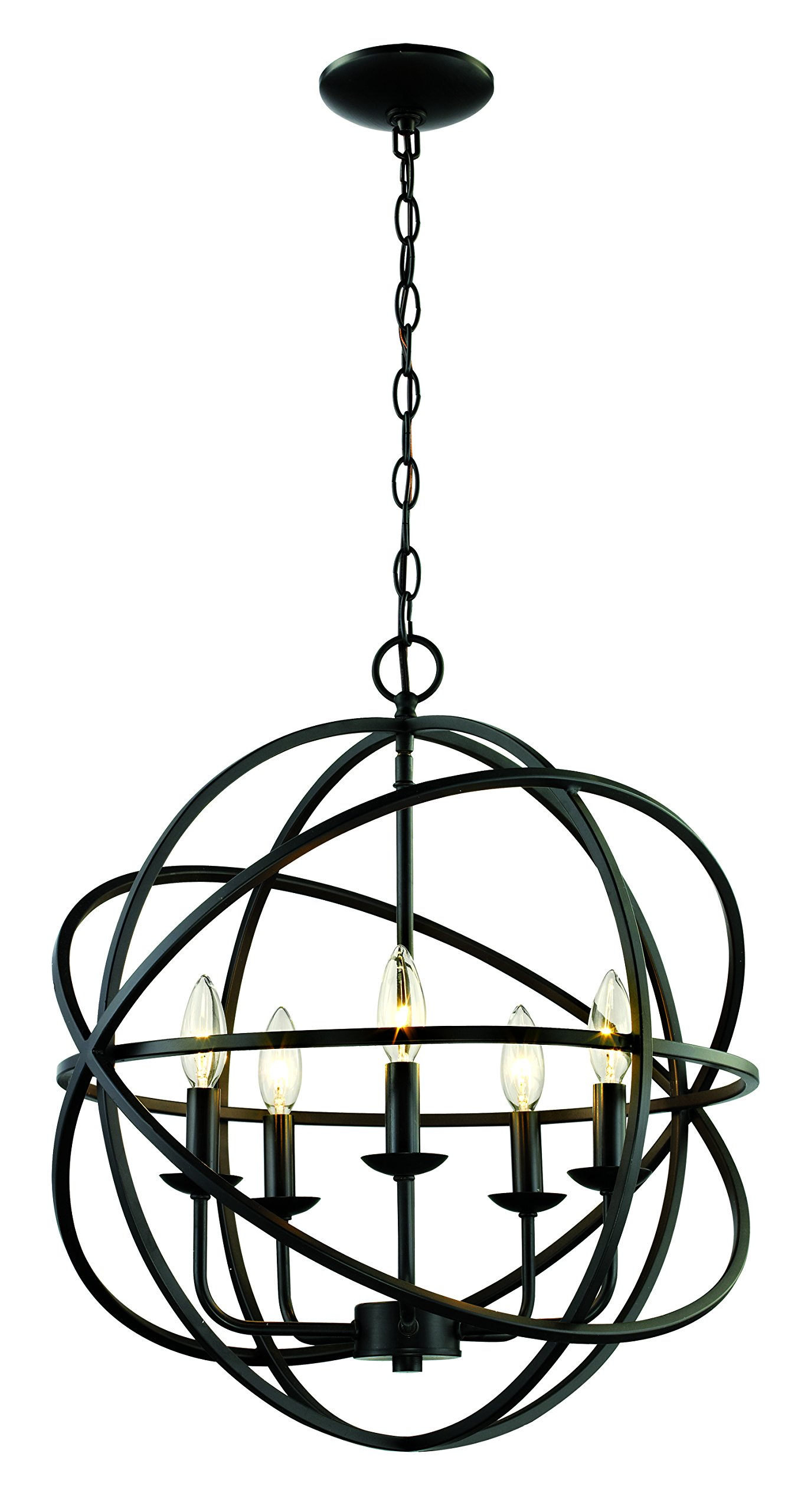 Trans Globe Lighting 70655 ROB Indoor Apollo 20'' Pendant, Rubbed Oil Bronze