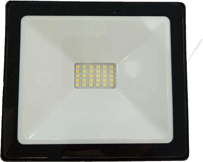 Proyector foco LED exterior de 20W ultra fino para exterior 1600 ...