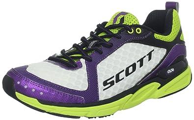 c64c98daae9f6 Scott Running Women's eRide Trainer 2 Running Shoe,White/Purple,6.5 ...