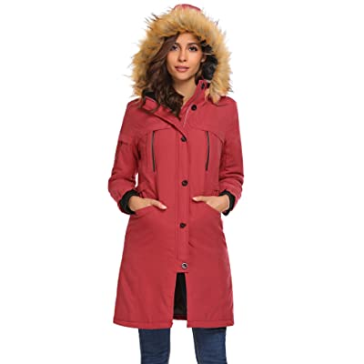 Asatr Women's Thicken Warm Winter Coat Lined Parka Anorak Jacket with Removable Faux Fur Hood