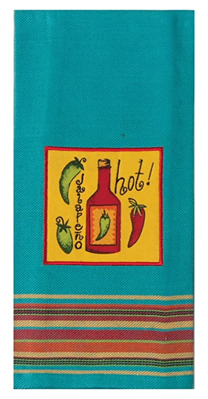 Kay Dee Designs R3037 Hot Applique Tea Towel