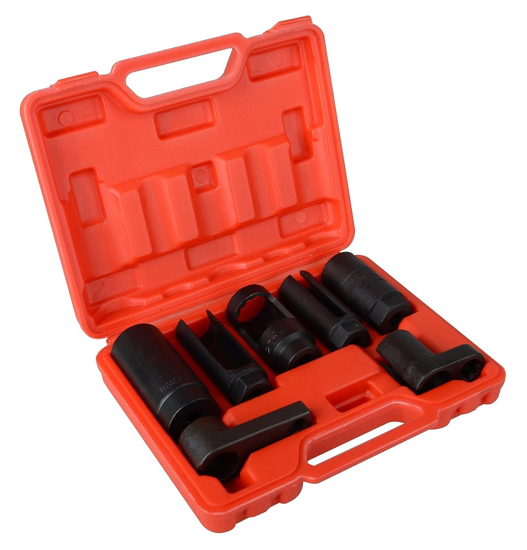 DA YUAN 7pcs O2 Oxygen Sensor & Oil Pressure Sending Unit Master Sensor Socket Set Yinyuan Tools