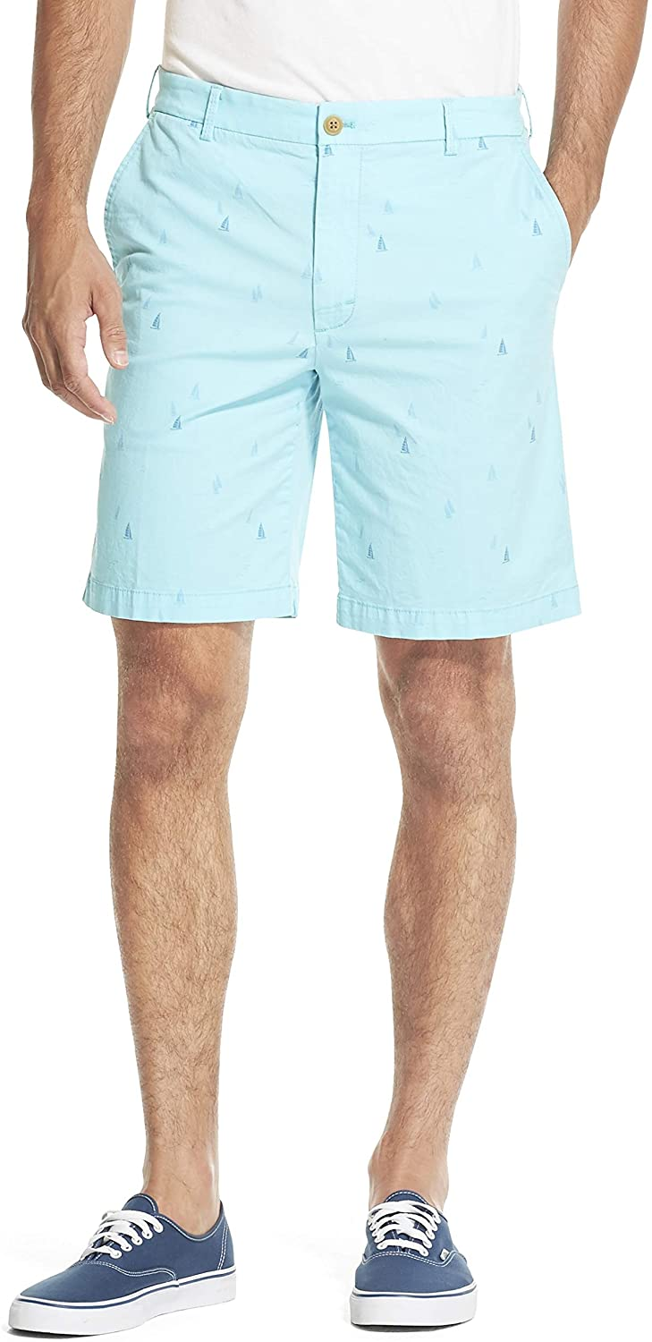 IZOD Mens Saltwater Stretch 9.5 Chino Printed Shorts