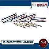 Kit 4 candelette Bosch 0250202020