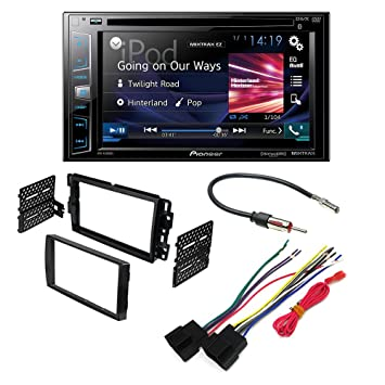 amazon com pioneer avh 280bt aftermarket car stereo dash GM Radio Wiring Harness Adapter pioneer avh 280bt aftermarket car stereo dash installation kit w wiring harness antenna select