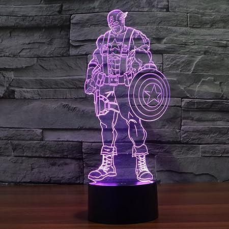 Primera Capitán América proyección 3d led para escritorio mesa ...