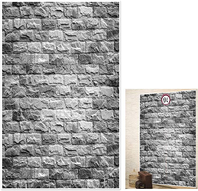 70.8 x 43.3 Inch Brick Wall Backdrop 9 and 3//4 Cross Station Secret Passage to Magic School Wizard Party Decoration Decorative Brick Wall Room Decor