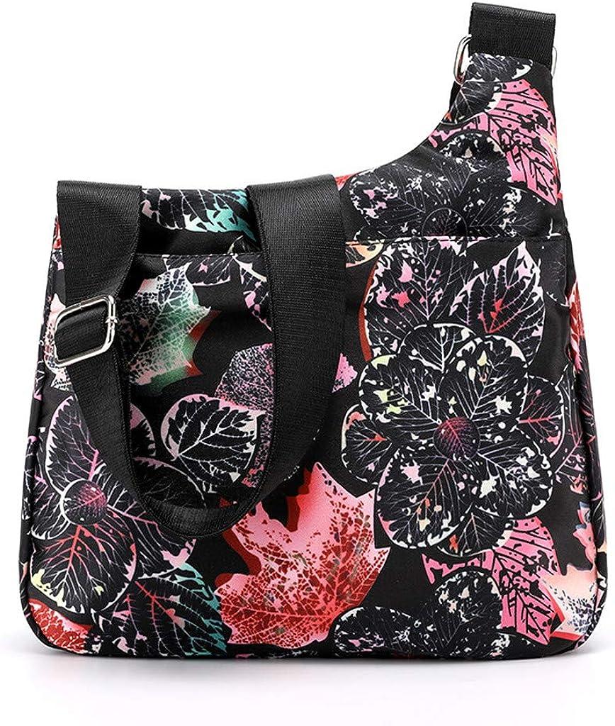 iHAZA Femmes Sacs de messager de grande capacité de mode Sacs de voyage floraux à une épaule B C