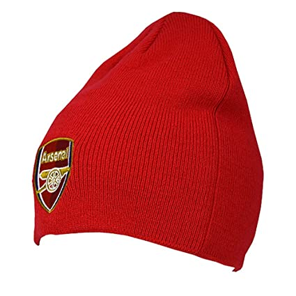 193ddbc2183 Image Unavailable. Image not available for. Color  ARSENAL FC Official Knitted  Hat RD Red Beanie