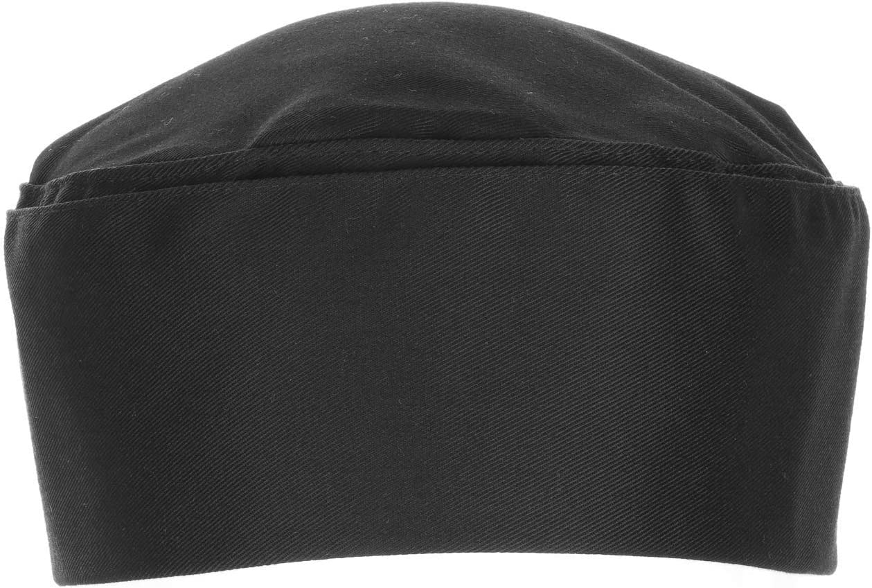 Chef Works Unisex Double-Rimmed Chef Beanie, Black, One Size: Clothing