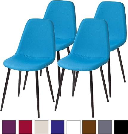 Albatros sedie da Pranzo retr/ò FANO Set di 4 sedie Azzurro Chiaro SGS Testato