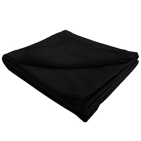 97d0650b50 Gildan DryBlend Plain Warm Fleece Blanket Throw (325gsm) (One Size) (Black)   Amazon.co.uk  Kitchen   Home