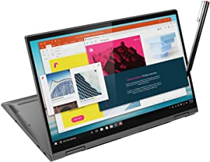 "Lenovo Yoga C740 2 in 1 Touchscreen Laptop, 15.6"" FHD Metal Body, Core i5-10210U, 12GB RAM, 512GB SSD, Myrtix Active Pen, USB-C, Backlit KB, FP Reader, 15 Hrs Battery, Win 10 (Renewed)"