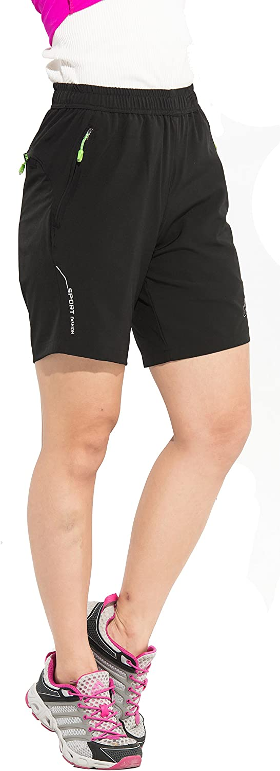LancerPac Lightweight Womens Hiking Shorts Quick Dry Active Sports Cargo Shorts for Women
