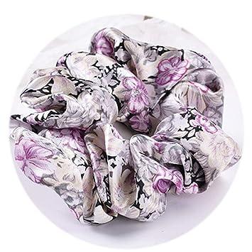 Lady Floral Cotton Hair Scrunchies Bun Ring Elastic Sport Dance Retro Scrunchie