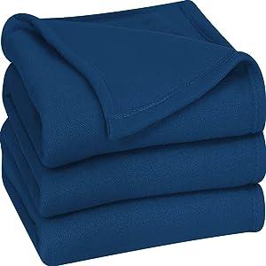Utopia Bedding Fleece Blanket Twin Size Navy Soft Warm Bed Blanket Plush Blanket Microfiber