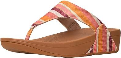3866719572f2f3 FitFlop Women s Lulu Toe Thong Sandals Orange Stripey 8 ...