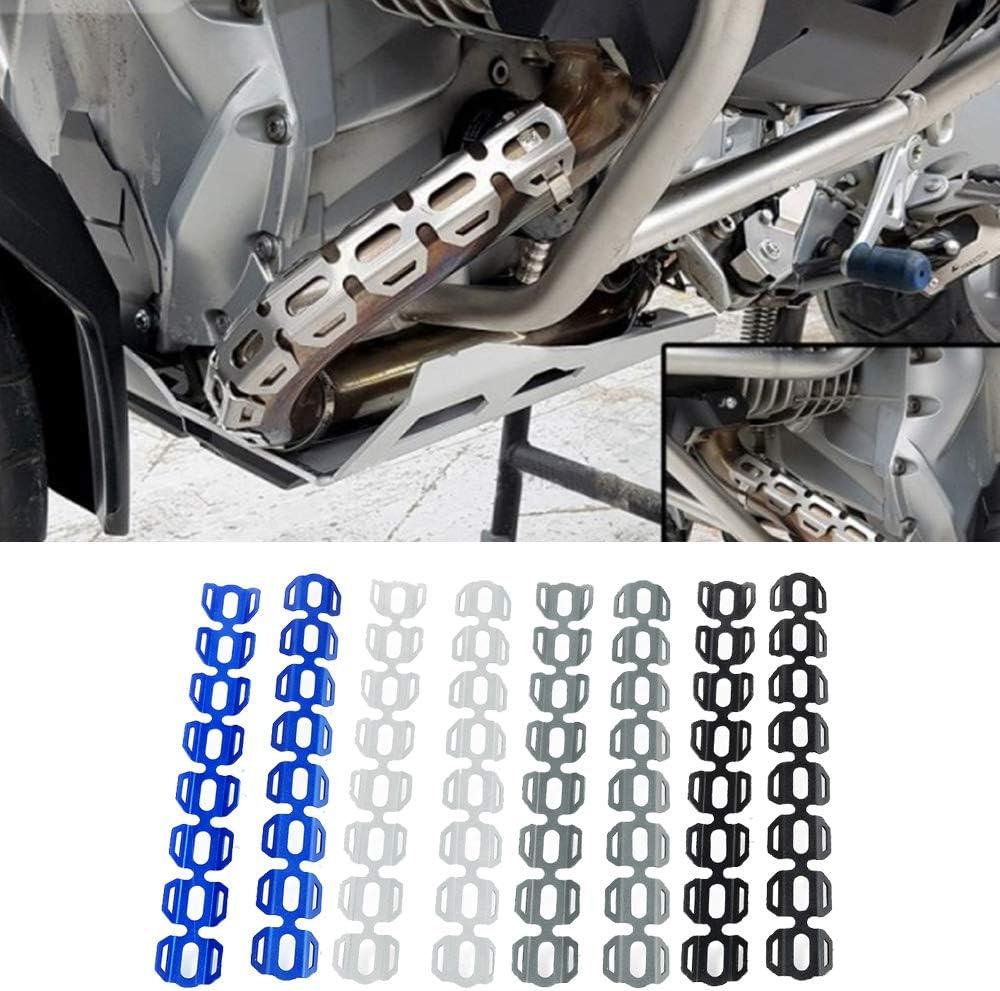 Motorrad Auspuff Rohr Schutz Hitzeschild Abdeckung f/ür BMW F650GS 2008-2019 F700GS F800GS Alle Jahre,F800GS Adventure 2013-2019 R1200GS LC 2013-2019 R1200GS LC Adventure 2014-2019-Blau