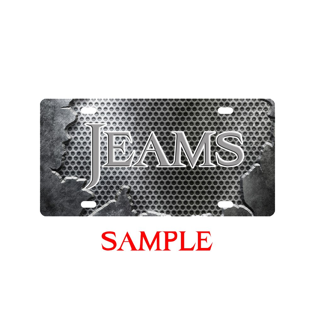 Metal Front of Car License Plate Covers Personalized License Plate with Your Name Custom License Plates Auto Car Tag