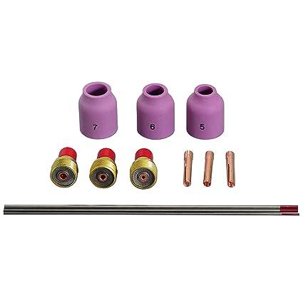 TIG Gas Lens Coronilla Cuerpo boquilla KIT Para WP-9 WP-20 WP-25 ...