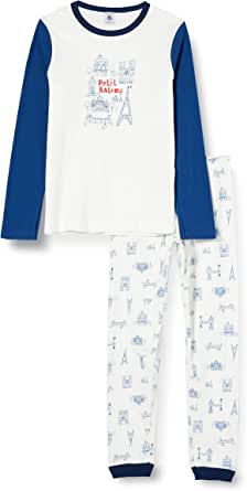 Petit Bateau 5606401 - Pijama, diseño de París Marshmallow/Azul/Multicolor 12 años