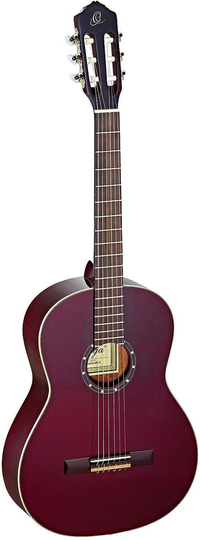 color rojo Ortega R131SN-WR cedro y caoba, tama/ño 4//4 Guitarra cl/ásica
