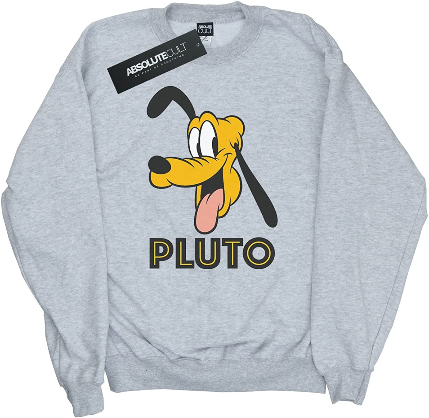 Disney Womens Pluto Face Sweatshirt