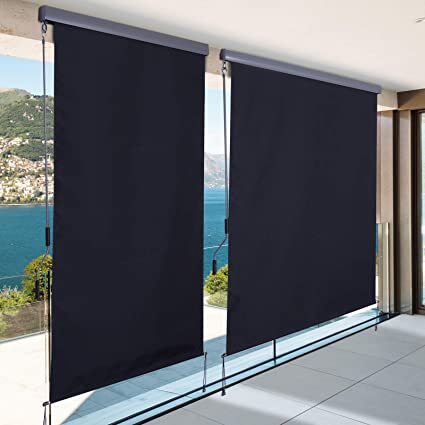 Outsunny Toldo Vertical con Cajón para Balcón y Terraza Protector de Sol Privacidad Enrollable para Exterior con Manivela 140x250cm Gris: Amazon.es: Jardín