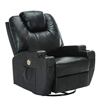 Uenjoy Massage Recliner Deluxe Electric Massage Chair Massage Sofa With  Heating System U0026 360° Swivel