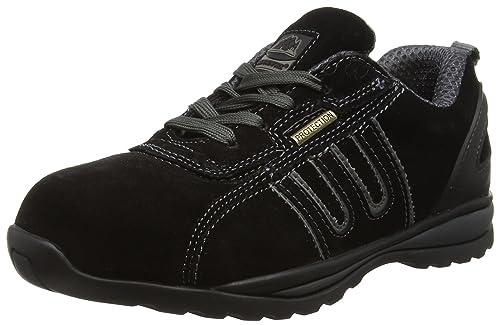 Groundwork GR86 Zapatos de Seguridad de Cuero, Unisex, Negro (Black/Grey)