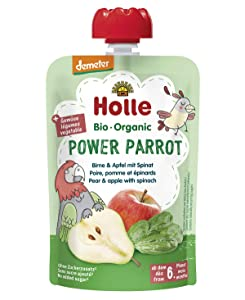 Holle Bio Smoothie Pure Fruit Power Parrot Pear With Apple And Spinach 6m +100g
