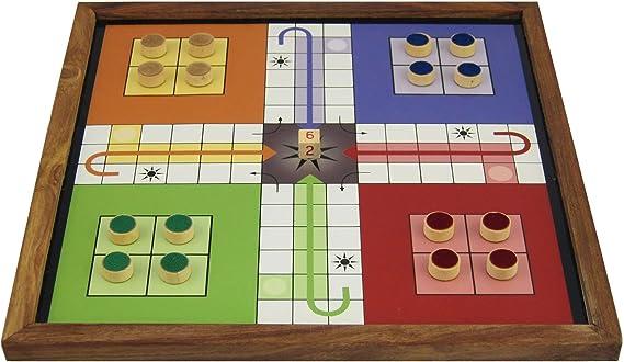 Shalinindia Ludo Juegos de Mesa Juego para Niños con La Junta Magnética y Piezas: Amazon.es: Hogar