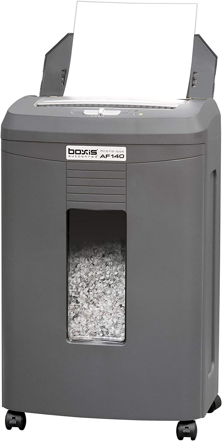Boxis AutoShred 140-Sheet Auto Feed Microcut Paper Shredder