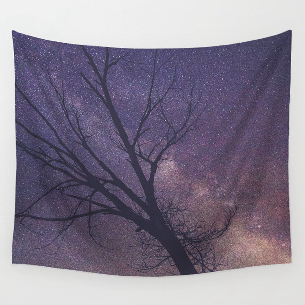 LivebyCare Galaxy Tapestry Wall Hanging Decoration Beach Towel Lightweight Polyester Fabric Decorative Wall Tapestries Decor Art for Boys Girls Kids Children Bed Room Bedroom