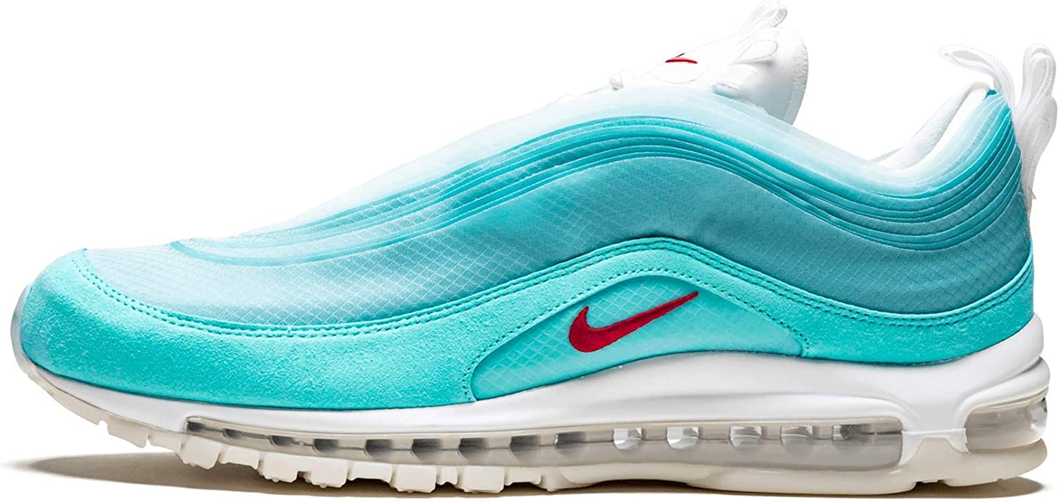 Amazon Com Nike Air Max 97 Ice Blue Red White 14 Fashion