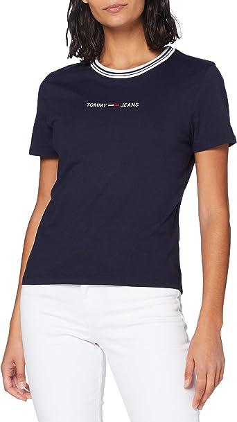Tommy Hilfiger Tjw Summer Logo Ringer tee Camisa para Mujer: Amazon.es: Ropa y accesorios