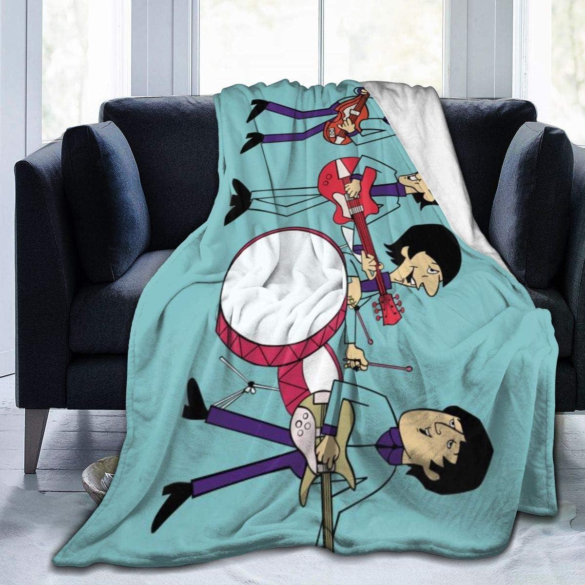Anime Bea-tles Throw Blanket