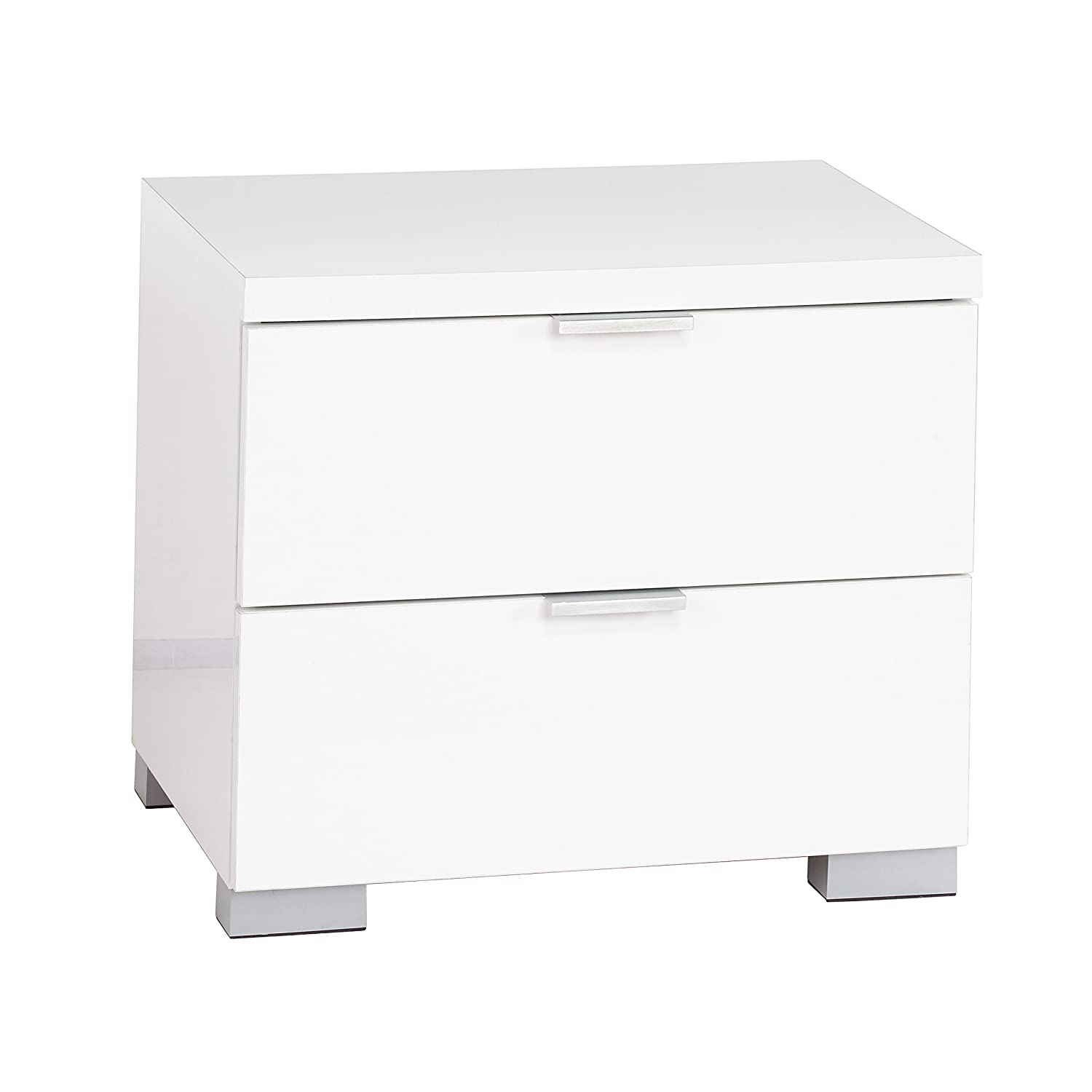 Amazon.com: Target Marketing Systems Zuri Series Fusion Collection  Contemporary 2 Drawer Night Stand, White: Kitchen U0026 Dining