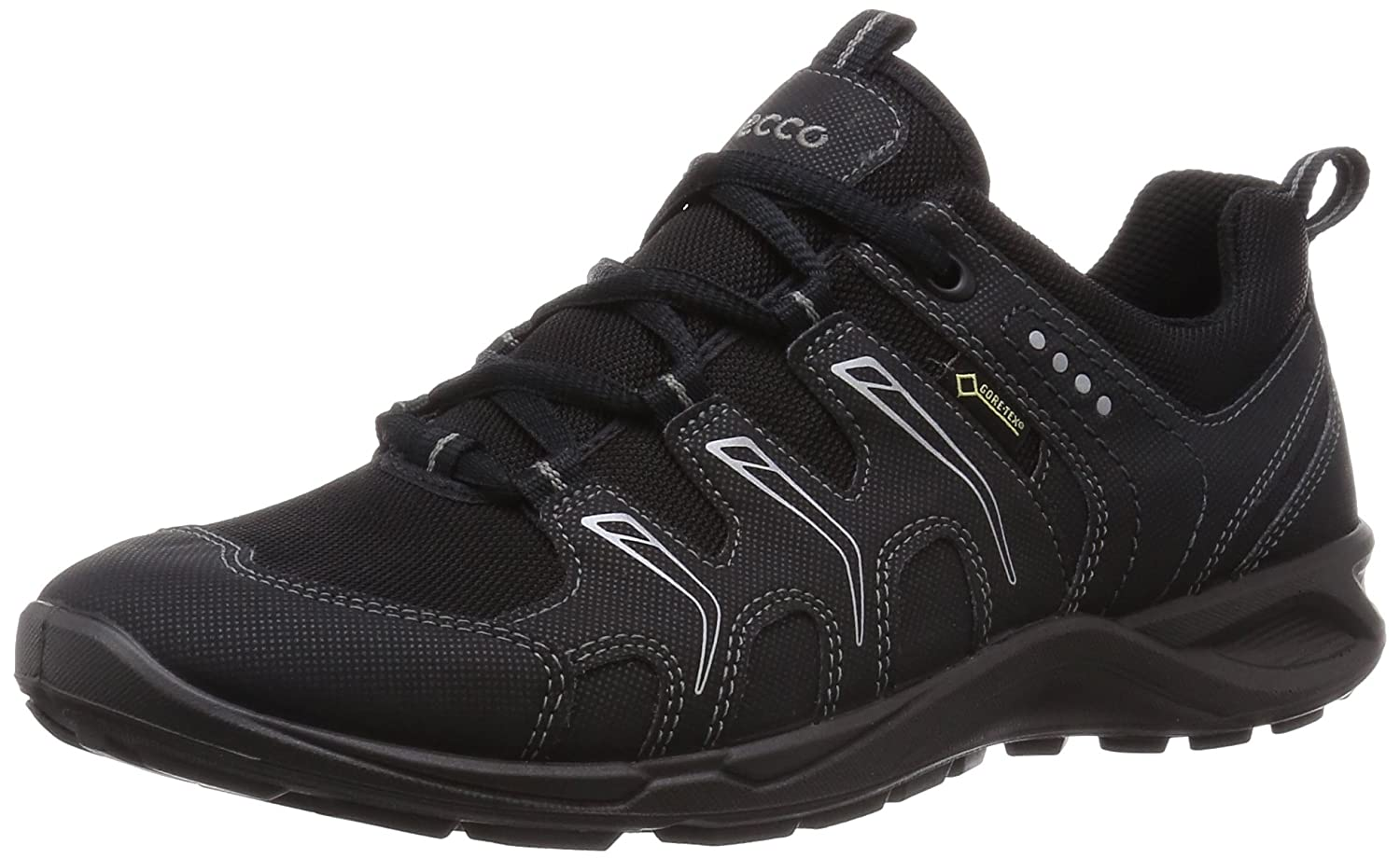 Ecco Terracruise Black/Black Synthetic/Textil 841043 - Zapatillas de Fitness para Mujer, Color Gris, Talla 36