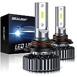 SEALIGHT Scoparc S1 9005/HB3 LED Headlight Bulbs,High Beam,9145/H10 Fog Light Bulbs,6000K Bright White,Halogen…