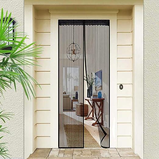Mosquitera magn/ética para puerta Negro 100 cm x 210 cm