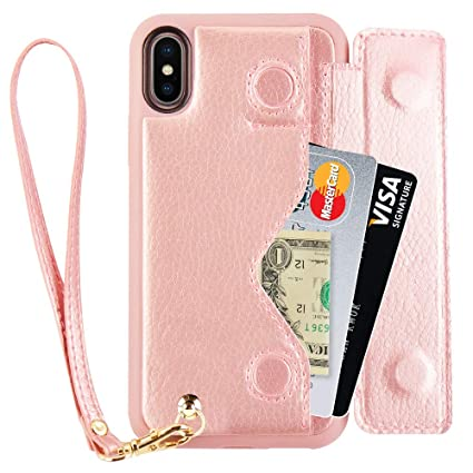 iphone xs flip case rose gold