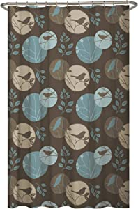 MAYTEX Clementine Fabric Shower Curtain, Brown Multi, 70 inches x 72 inches