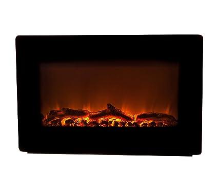 amazon com fire sense black wall mounted electric fireplace home rh amazon com wall electric fireplace contemporary wall insert fireplace electric