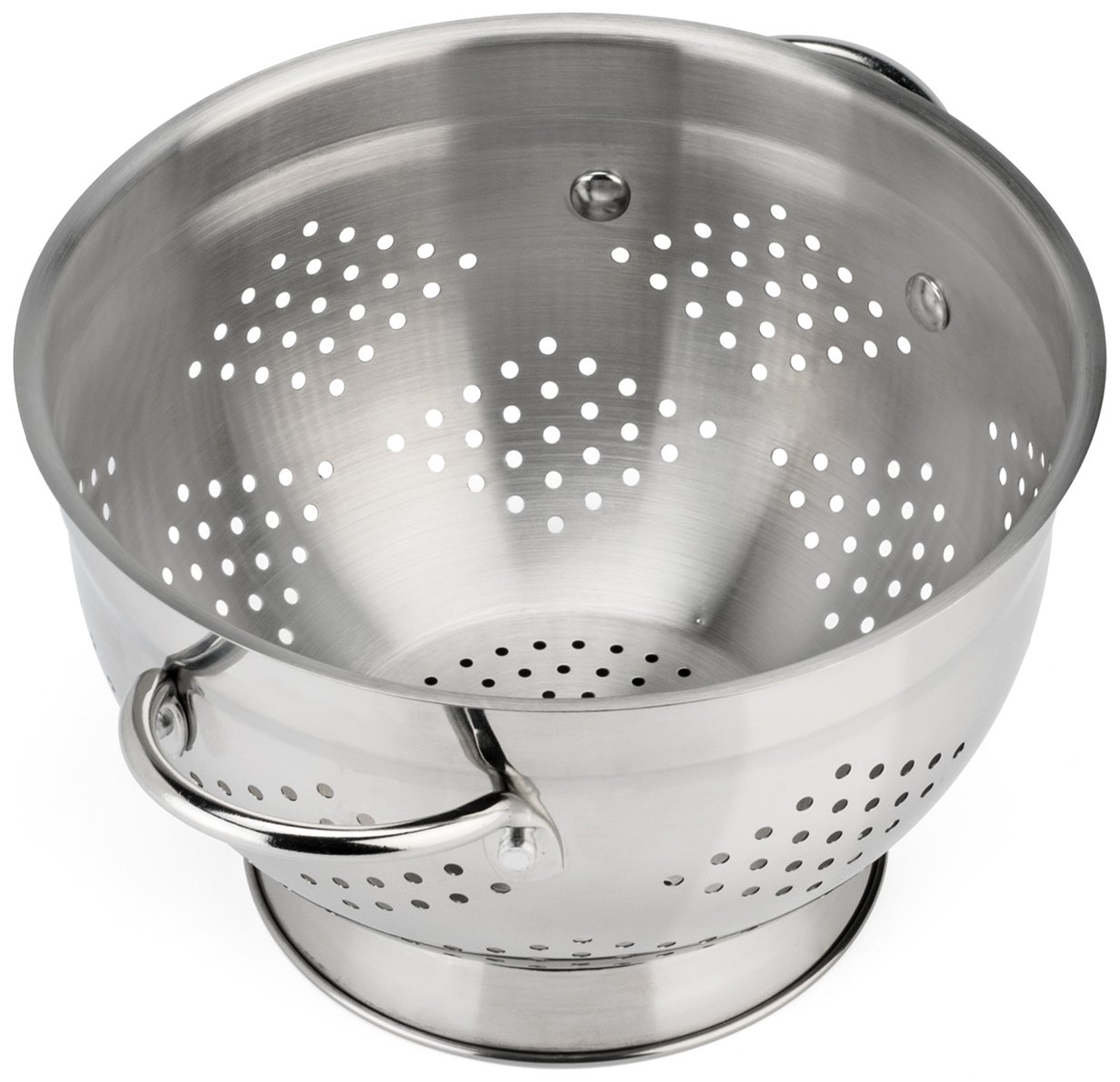 Raishi Stainless Steel Colander for Easy Cleaning - 5 Quart Restaurant Quality Grade Guarantee. Best Metal Colander 308