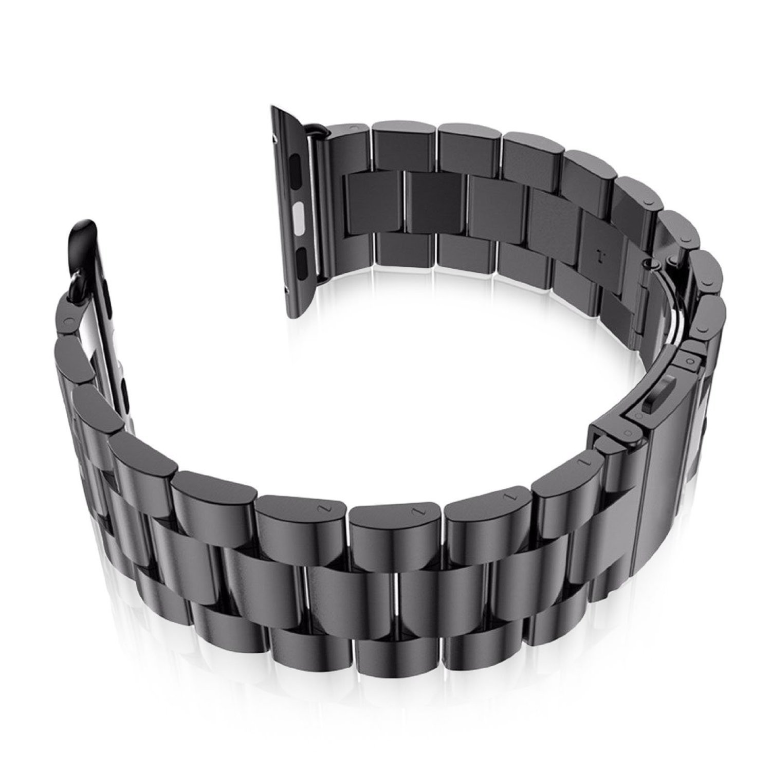 Leefrei Stainless Steel Replacement Strap Watch Band for 42mm Apple Watch Series 3 Series 2 and Series 1 - Black by Leefrei (Image #4)